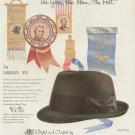 1960s Stetson Hats-Ribbon Delegates Democratic  Advertising Print Ad - tva2303