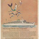 1963 Moore-McCormack Lines-Sea Safari Steam Ship  Advertising Print Ad - tva2301