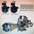 Pinty Rifle Hunting Scope 4-16x50 Illuminated Rangefinder Red & Green Sight