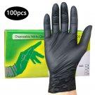 100pcs S-XL Black Disposable Nitrile Gloves