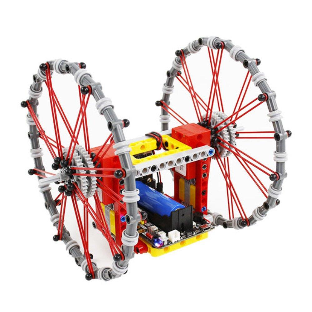 Yahboom DIY STEAM Micro:bit Self-Balancing Block Building Smart RC Robot Car Programmable APP Contro