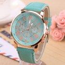 Quartz Watch Leather Band Women Ladies Men Fashion Bracelet Wrist Watch