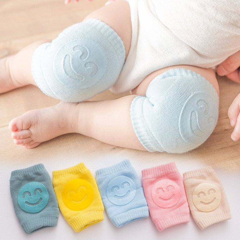 Kids Non Slip Crawling Elbow Infants Toddlers Baby Accessories Smile Knee Pads