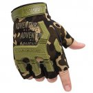 Fingerless Tactical Gloves Camouflage Military Mittens For Fitness Male Antiskid Motocycle Men Women