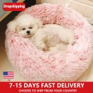 Kennel Pet Dog Bed Warm Dog House Soft Round Dog Bed Long Plush Puppy Cushion