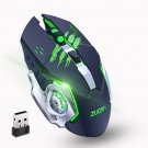 Wireless Mouse 2.4GHz Receiver LED Mute Silent Rechargeable USB