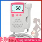 Home Pregnancy Baby Fetal Sound Heart Rate Detector LCD Display No Radiation