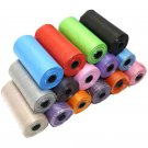 15 Pcs/Roll Travel Pet Waste Garbage Bags Biodegradable Color Garbage Bags Outdoor Dispenser