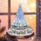 Christmas Tree Rotating Sculpture Train Decorations