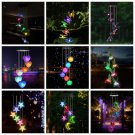 LED Solar Wind Chime Crystal Ball Hummingbird Wind Chime Light Color Changing Waterproof Light