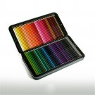 72 Colors Wood Colored Pencils Set Iron Box Colorful Lead Oil Painting Artist For Stationery School