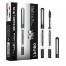 12PCS Deli S656 Straight Liquid Gel Pen Liquid Ballpoint Pen 0.5mm Nib Gel Pen Writing Signing Pen O