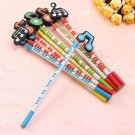 12 Pcs Wooden Pencils Musical Note Patterns Cartoon Pencils Writing Painting Stationery Gifts for Ch