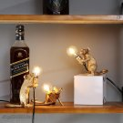 Rat Mouse Table Lamp Resin Small Mini Mouse Cute LED Home Decor Night Lights