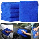 5X Fabulous Great Blue Wash Cloth Car Auto Care Microfiber Cleaning Towels