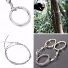 55cm 25g stainless steel wire saw emergency travel kit camp