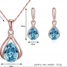 Wedding Earrings Plated Rose Gold Necklace Earrings Set Jewelry Set
