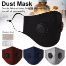 Reusable Cotton Black Face Mask Cover Respirator Anti-Dust + PM2.5 Mask Filter