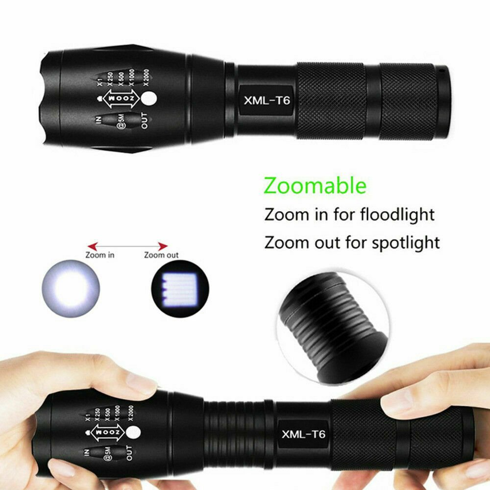 Best 50000LM LED Tactical Flashlight Torch XML