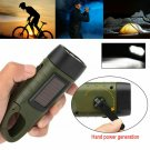 LED Lamp Solar Power Hand Crank Wind Up Emergence Flashlight Camping Light Torch