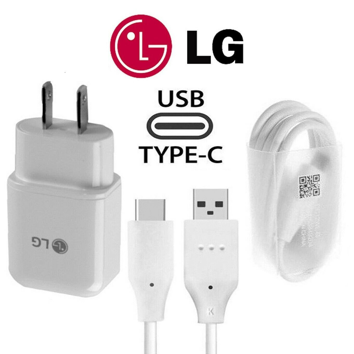 ORIGINAL LG Rapid Fast Wall Charger Plus Type C Cable For LG V40 G7