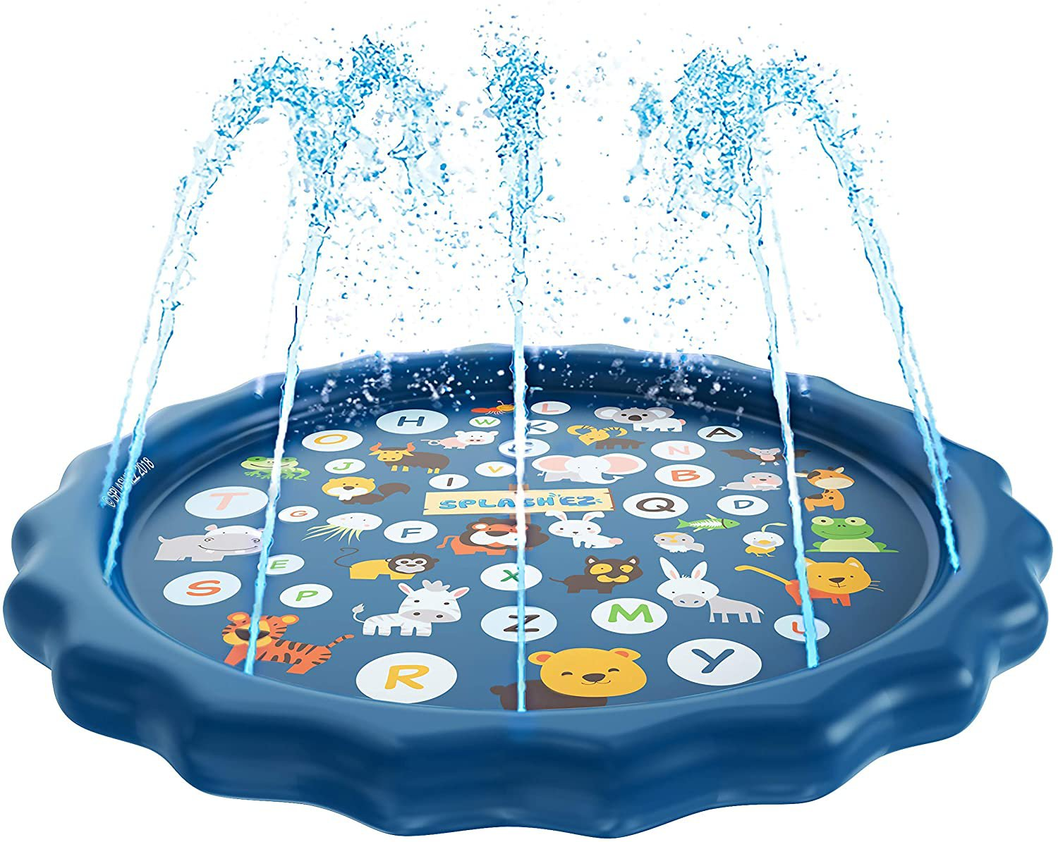 SplashEZ 3-in-1 Sprinkler for Kids, Splash Pad, and Wading Pool for Learning