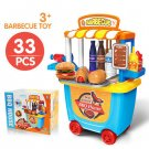 PRETEND PLAY KITCHEN SET Toys BBQ Grill For Kid Toddler Children Food Cooking