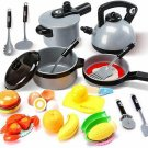 Kitchen Pretend Play Toys for Kids Children Play Cooking Playset
