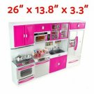My Modern Kitchen Kit Battery Operated Toy Doll Playset Toy Doll Lights Sound