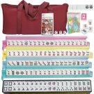 American Mahjong Set 166 Tiles 4 Colors Pushers Mah Jongg Set