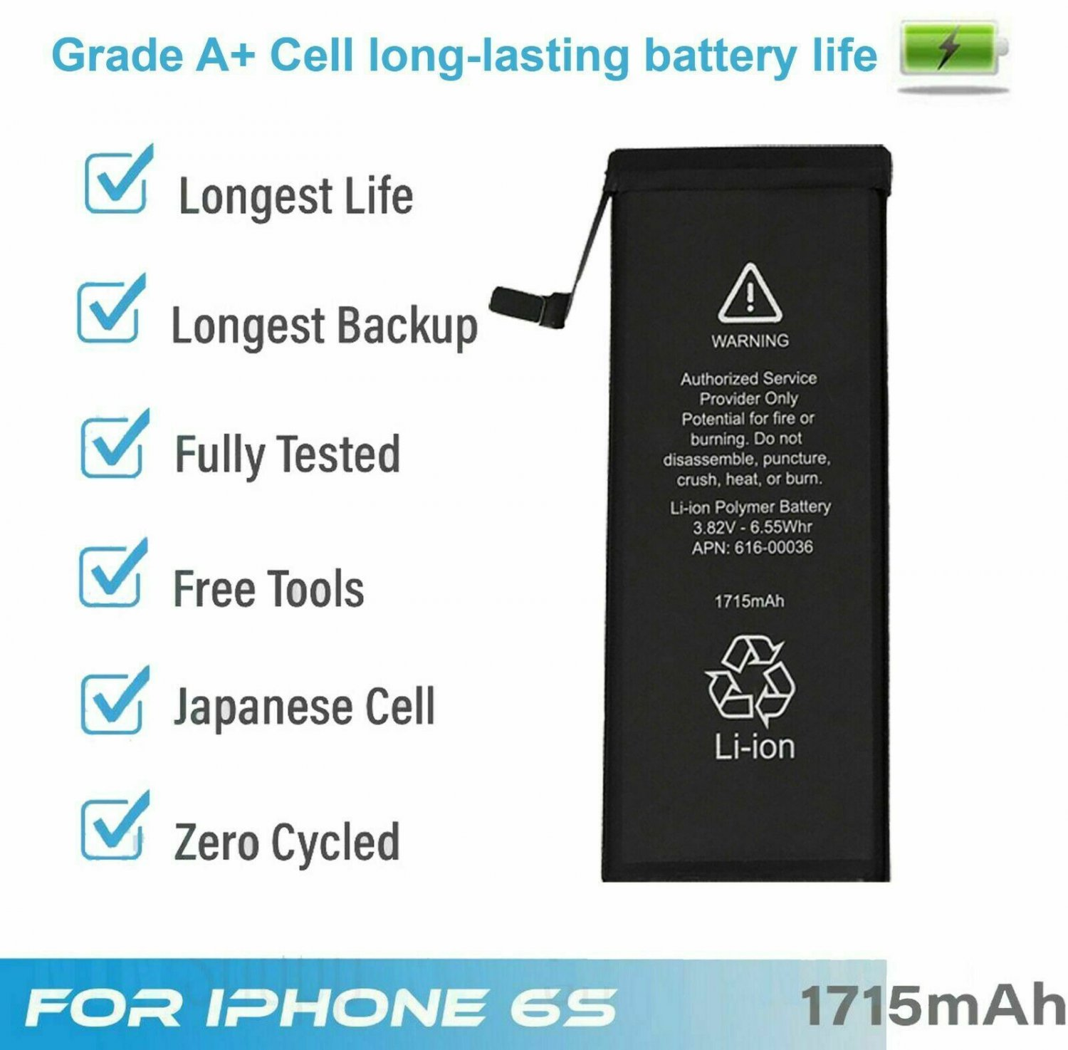 Battery For iPhone 6s internal replacement (1715mAh)