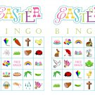 Easter Bingo 200 cards, prints 2 per page