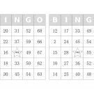 1000 bingo cards, prints 2 per page