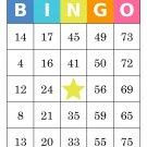 1000 bingo cards, prints 1 per page, multi-colored