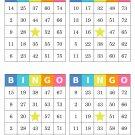 1000 bingo cards, prints 4 per page, multi-colored