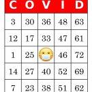 1000 COVID bingo cards, prints 1 per page, red