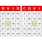 1000 COVID bingo cards, prints 2 per page, red