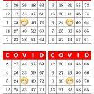 1000 COVID bingo cards, prints 4 per page, red