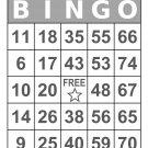 1000 Large Print Bingo Cards, prints 1 per page, gray