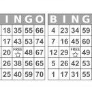 1000 Large Print Bingo Cards, prints 2 per page, gray