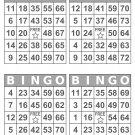 1000 Large Print Bingo Cards, prints 4 per page, gray