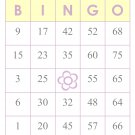 1000 bingo cards, prints 1 per page, yellow w/flower