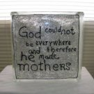 Hand Painted Mothers Glass Block Light