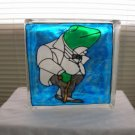 Hand Painted Butler Frog Glass Block Light