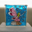 Hand Painted Fairy Glass Block Light
