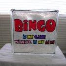 Hand Painted Bingo Glass Block Light
