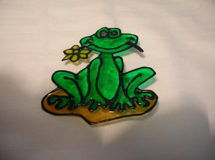 Happy Frog Pop Bottle Suncatcher