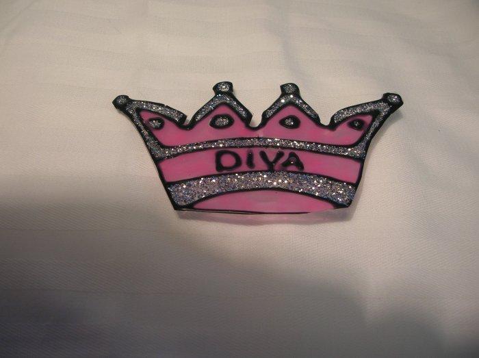 Diva Crown Pop Bottle Suncatcher