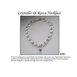 Crystallo Di Rocca Necklace