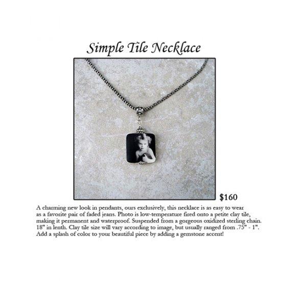 Simple Tile Necklace